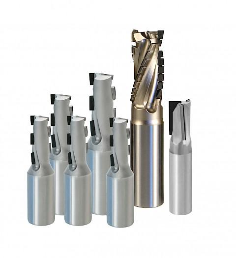 JSO 7 verschiedene Diamant-Schaftfräser